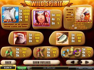free Wild Spirit slot mini symbol