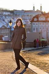 Cristina at the castle