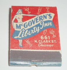 MATCHBOOK MCGOVERN'S LIBERTY INN CHICAGO,ILL (ussiwojima) Tags: chicago bar advertising illinois lounge cocktail girlie feature matchbook matchcover mcgovernslibertyinn