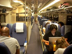 Busy Amtrak Pacific Surfliner