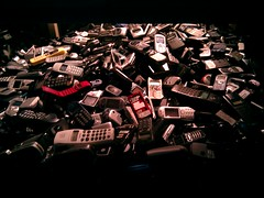 Cell phone pile  CCCB