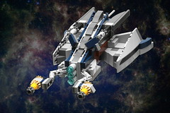 Separatist Shuttle Remix (pasukaru76) Tags: lego space remix starship alternate moc sigma105mm 8036 microscale separatistshuttle set8036