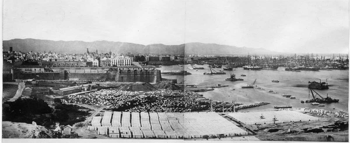 Vista panoràmica port de Barcelona