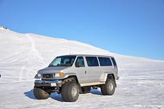 Iceland - Go anywhere van (eightinfinity) Tags: travel snow mountains iceland 4x4 glacier van monstertruck