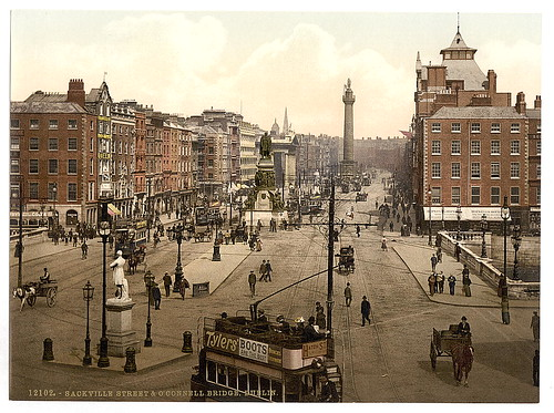 [Sackville Street and O'Connell Bridge, Dublin. County Dublin, Ireland] (LOC)