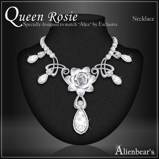 Queen Rosie necklace white