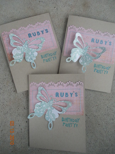Ruby's 6th Birthday Invites