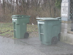 Zarn and Toter Carts (FormerWMDriver) Tags: trash out garbage can bin container rubbish roll waste cart refuse recycle recycling 95 90 sanitation 96 gallon toter rollout zarn