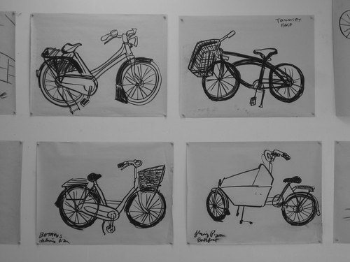 Veronica Jaregui's charcoal images from The Still Lives of Bikes