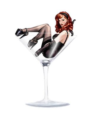 Pin-Up-Girl-In-Martini-Glass-