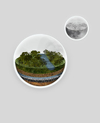 GLOBE (nicktassone) Tags: trees moon texture nature glass photoshop silver river globe cross cut earth poor gray fullmoon textures ornaments earthy environment layers section sandart crosssection earthtones halfmoon