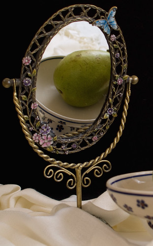 Mirror with Pear