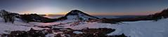 Il Sole e la Luna (Max.Lucotti) Tags: italy mountain nature sunrise landscape nikon pano liguria panoramica d90