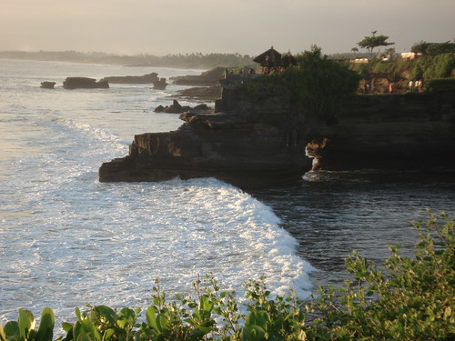 tanah lot cliff