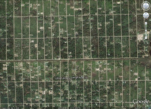 Lehigh Acres, FL from above (Google Earth)