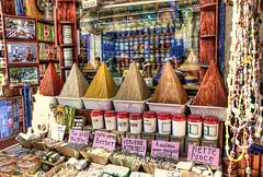 Spice pyramids/ Piramidi...speziali (Fil.ippo) Tags: pyramid market spice morocco marocco souk mercato essaouira hdr filippo d5000