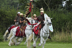Mounted Romans Soldiers, Roman Army on Horseback, Ermine Street Guard at Kelmarsh (Steve Greaves) Tags: red horses italy rome field leather silver army gold countryside italian ancient war uniform catchycolours dress arms roman juliuscaesar sandals military helmet battle horsemen event riding hedge mounted sword imperial conflict soldiers historical shield warriors recreation armour period invasion reenactment horseback troops romanempire reenactors equine authentic legion romans invading armoury reconstruction invaders cohort legionary gallop riders spear horseman livinghistory reenacting warfare breastplate englishheritage kelmarsh erminestreetguard romansoldiers gladius battledress romanarmy kelmarshhall paxromana nikond300 fightingforce 43ad