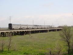 Amtrak #6 (El Cobrador) Tags: california railroad train amtrak locomotive passenger sacramento davis ge intercity generalelectric yolocauseway californiazephyr superliner amtk p42dc