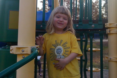 Catie at the playground