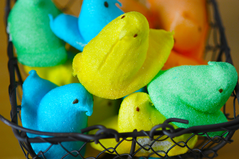 basket full of peeps