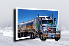 Road Train - Out Of Bound (Lela L.) Tags: photoshop roadtrain