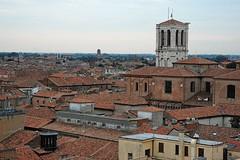 Bella vista (mikael_on_flickr) Tags: castle view tetti roofs vista ferrara duomo castello citt birdsview centrostorico tegole torredileone