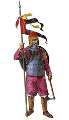 Persian Cavalryman (cool-art) Tags: soldier persian war iran muslim helmet medieval axe warrior iranian middle armour ages crusade crusades saracens armies cavalryman