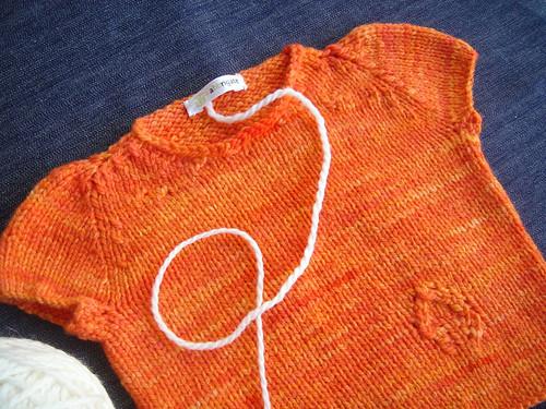 "Leafy vest em ""laranja"""