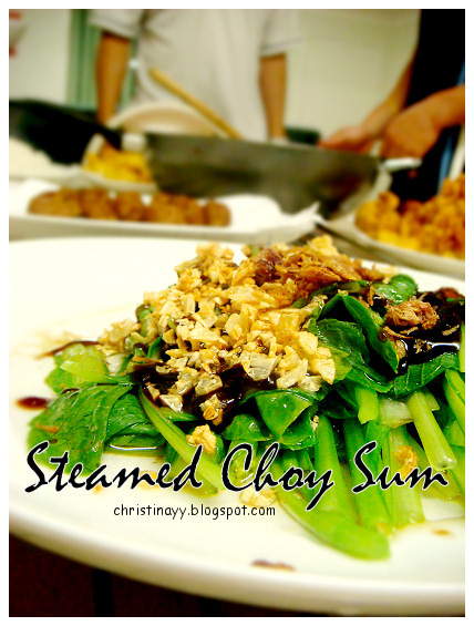 Home-cook: Steamed Choy Sum