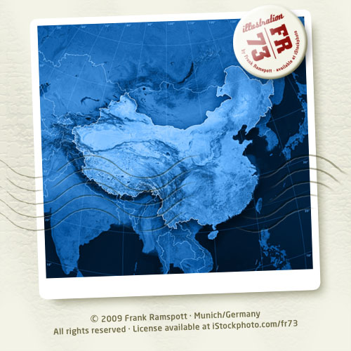 Topographical Map Of China