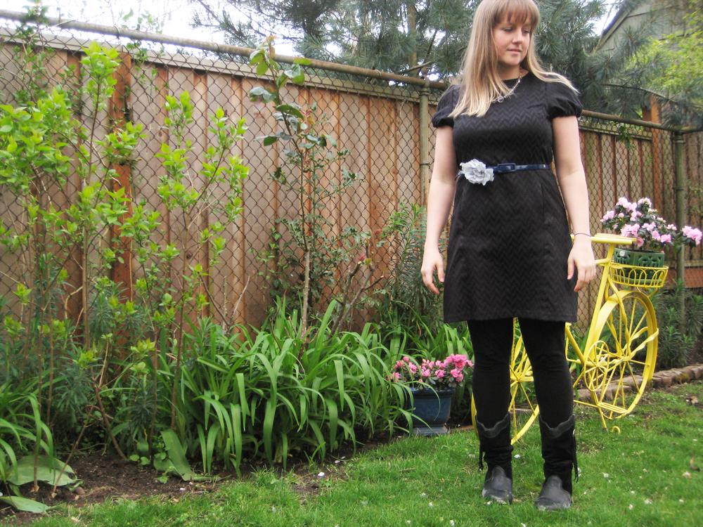 easter dress in the garden