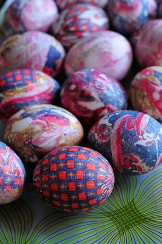 silk tie dye Easter eggs