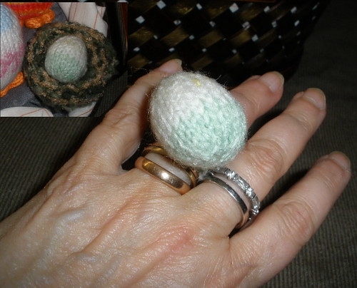 Easter Egg Pin Cushion Ring
