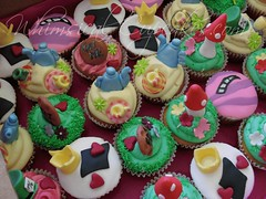 christie madhatters1 (Whimsical Cupcakes) Tags: pink hat garden purple cheshire top alice teapot wonderland madhatter teaparty toadstools crowns