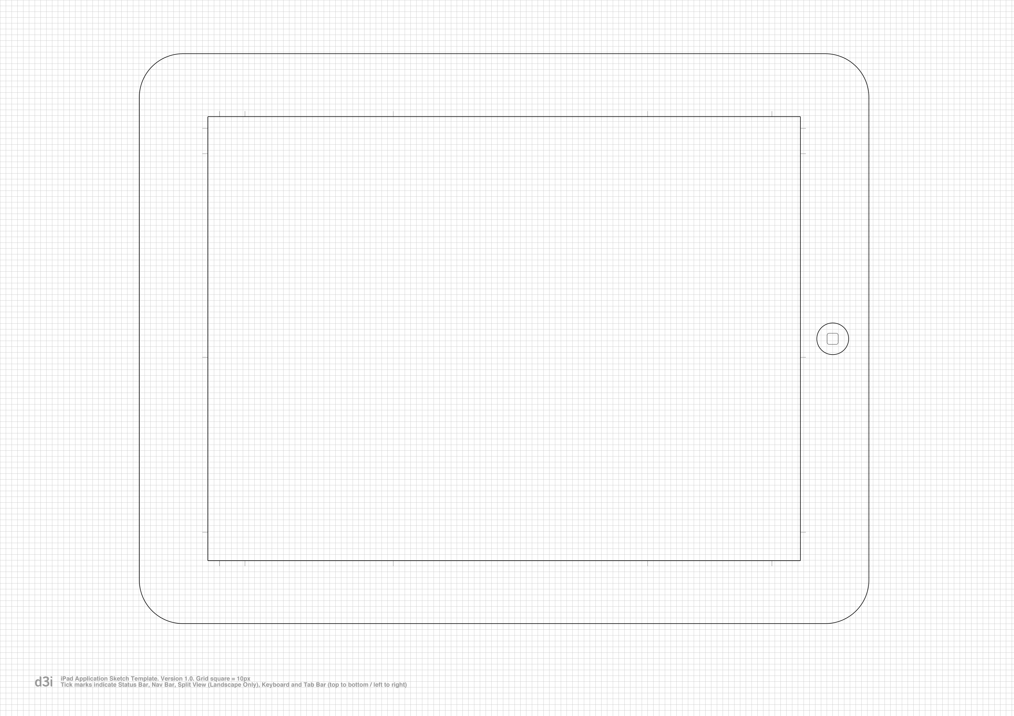 Ipad, ipad mini, flat kit photoshop & sketch template by meno.