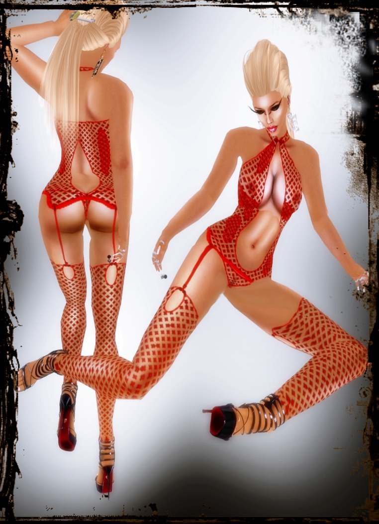 A&A Fashion Lingerie Set red