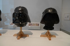 Darth Vader helmet and Iraqi Fedayeen helmet