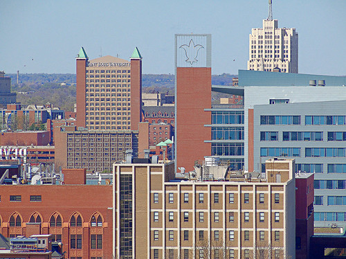 Compton Hill Water Tower, in Saint Louis, Missouri, USA - view of Saint Louis University