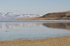 Snowy Spring Fairy Tale (purpleSJ) Tags: lake reflections utah nikon saltlakecity greatsaltlake antelopeislandstatepark snowcappedmountains sjadriano