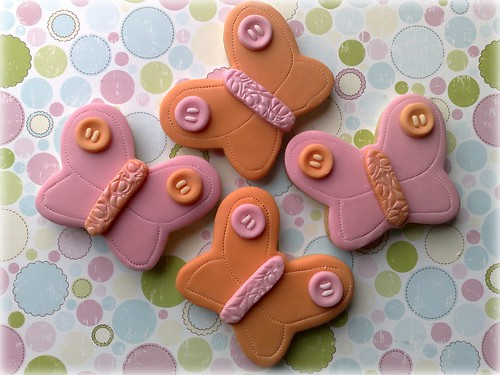 Button Butterfly Cookies