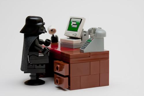 Darth's desk