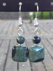 Kambaba jasper earrings