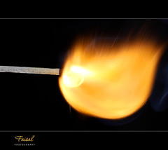 Matchstick (Faisal | Photography) Tags: orange black speed fire high explosion matchstick highspeedphotography canonef100mmf28macro canoneos50d faisal|photography