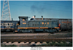 B&O SW1200 9621 (Robert W. Thomson) Tags: railroad ohio train diesel cincinnati railway trains locomotive bo trainengine switcher switchengine emd baltimoreohio sw1200 sw12 fouraxle endcabswitcher