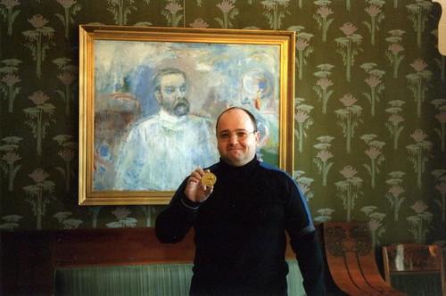 Норвегия. Осло. С Нобелевской медалью. Шоколадной