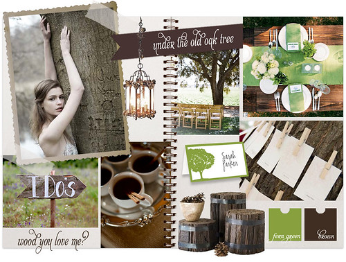 oak tree scrapbook inspiration