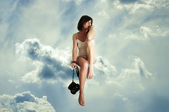 Unclouded on my cloud (cliccath) Tags: portrait cloud photomanipulation photoshop self autoportrait nuage daydreaming monsportfavori avoirlattedanslesnuages cliccath ~explore~ tohaveonesheadintheclouds grandirsurunnuage growingonacloud cathschneider