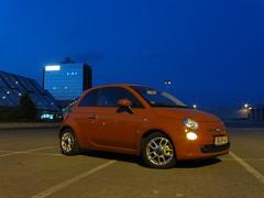 Rhein-Ruhr-Zentrum, Mlheim (obrm1) Tags: orange nacht fiat500 mlheim langebelichtung rheinruhrzentrum