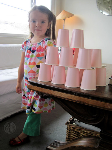 stacking the cups