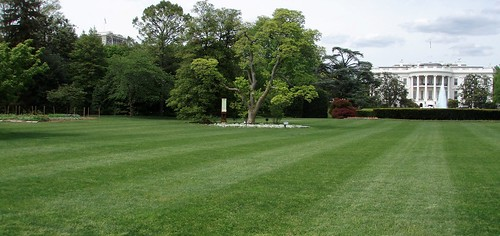 white house south lawn with vegetable garden